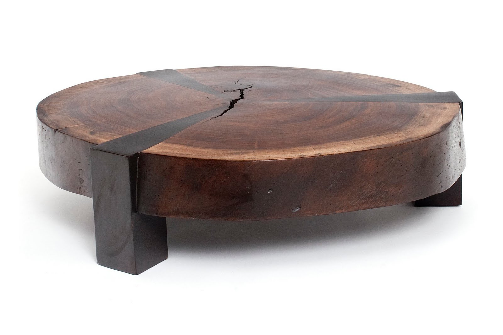 Eco friendly exotic wood tables globally gorgeous for Wood slab coffee table