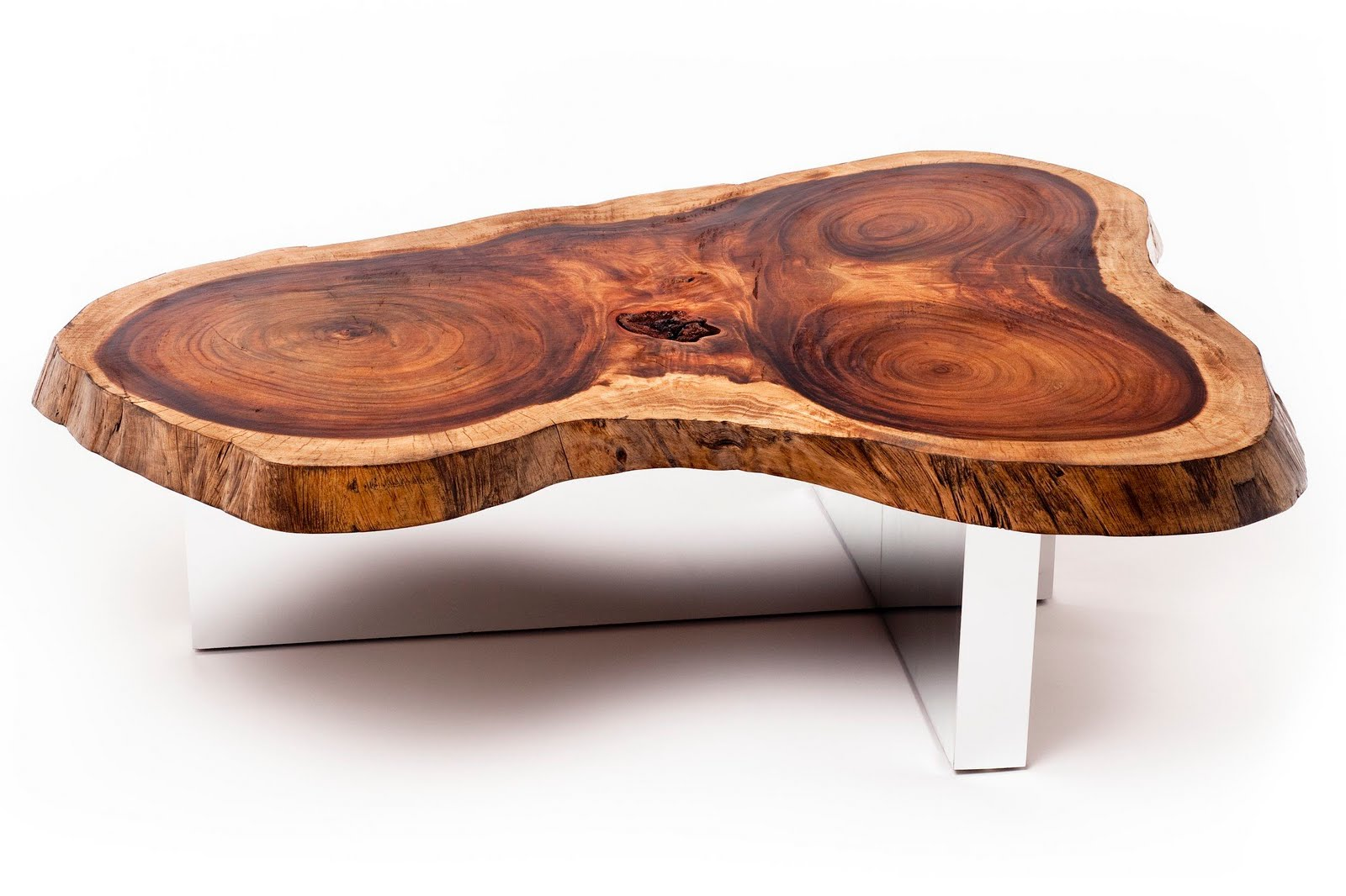 It really makes the wood stand alone and even appear to be floating in some  creations  Tamburil Slab Coffee Table. Eco Friendly Exotic Wood Tables   Globally Gorgeous