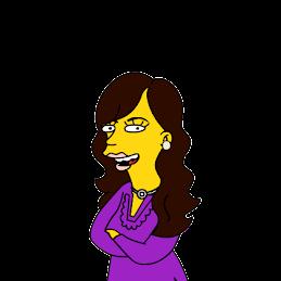 Flor en formato Simpson