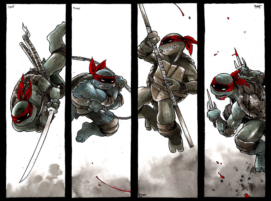 tmnt wallpaper. TMNT FOUR PANELS