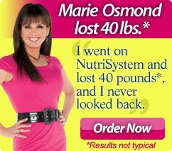Marie Osmond Nutrisystem Weight Loss