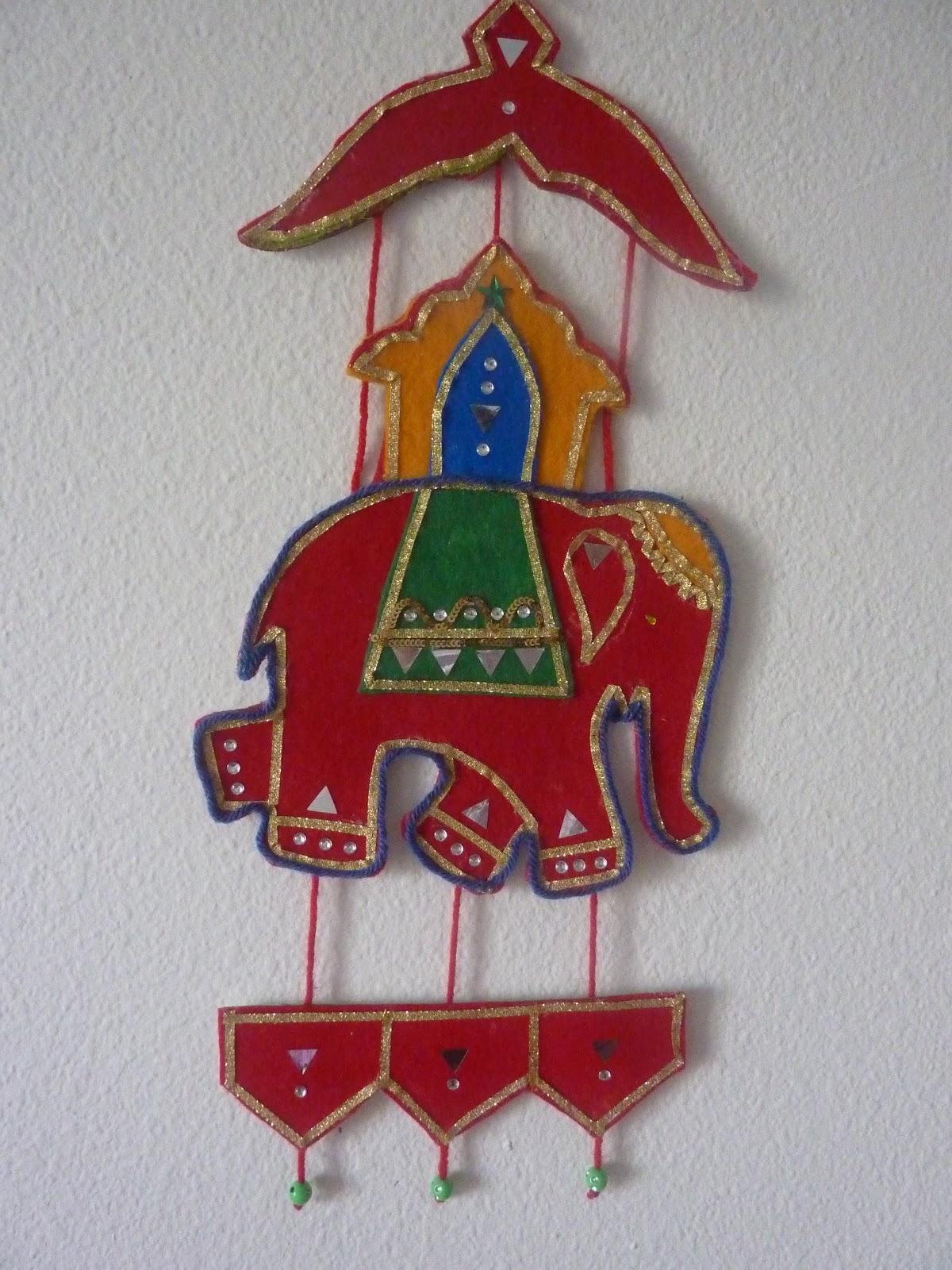 Elephant Wall Hanging felt wall hanging - indian elephant