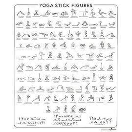 Yoga Poses And Hindi Names Chart