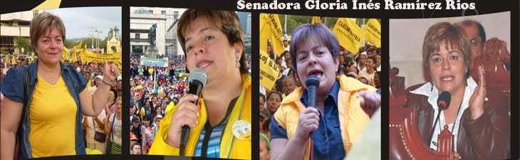 Senadora Gloria Inés Ramírez Rios