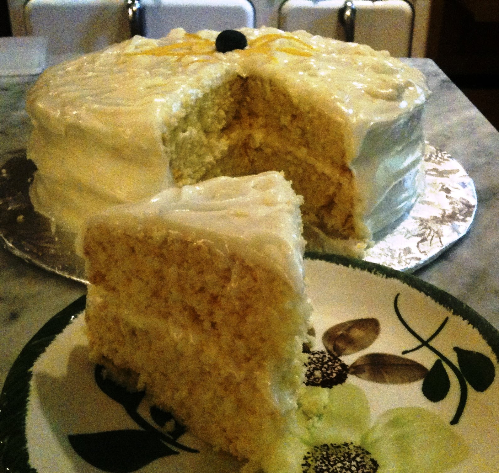 A Cake Bakes in Brooklyn: Lemon Cream Cake and Dirty Martini