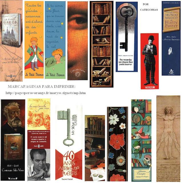 Marcapaginas de Libros.Imprimir <sub>Inspiracion y Colecciones ...
