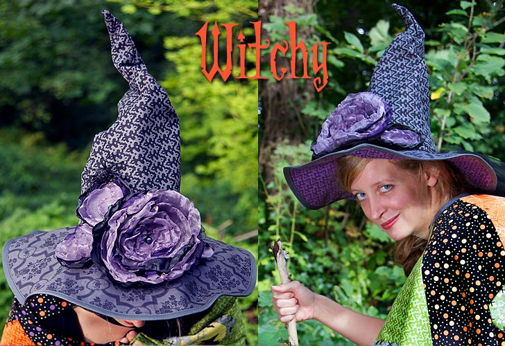 how to make a witches hat out of fabric