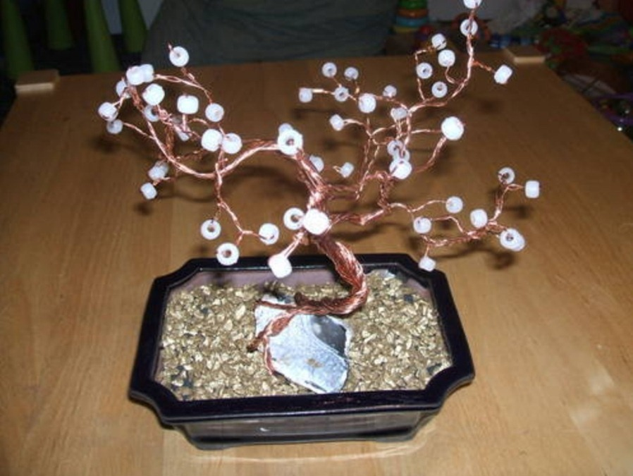 Como hacer un Bonsai de Alambre y Abalorios Tutoriales