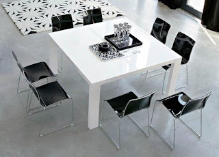 Dining table, modern interior design