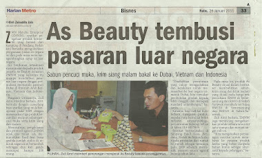 AS Beauty di Harian Metro ( Rabu 26 januari 2011 )