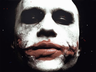 Pic of the Joker in the Dark Knight