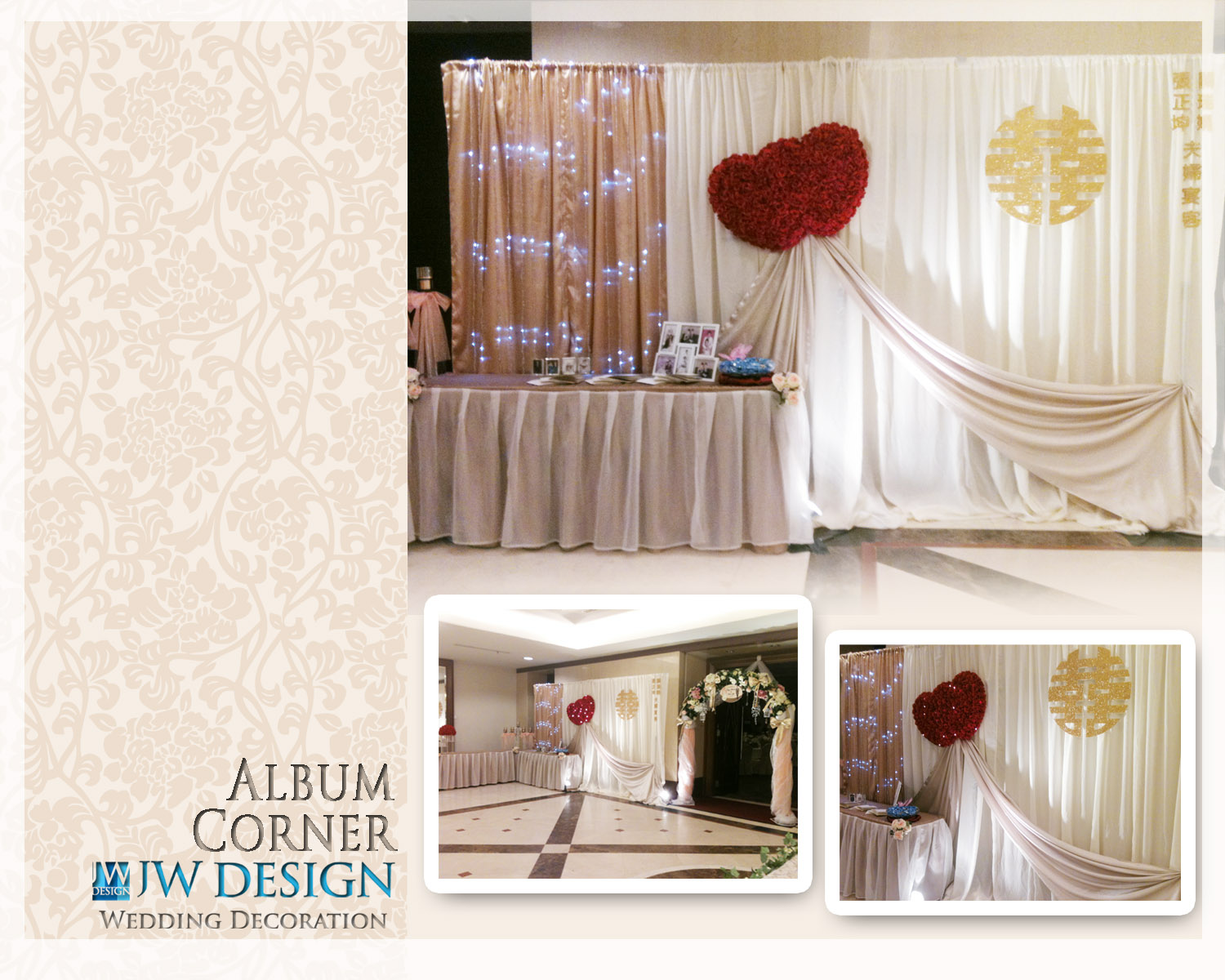 Jw design wedding decoration klang centro siew yis wedding klang centro siew yis wedding junglespirit Gallery