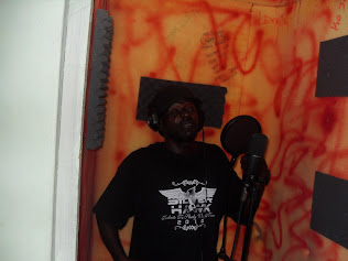 Tiger in Dialtone Studio Recording Booth