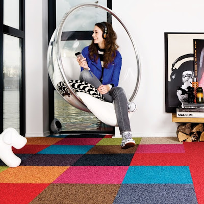 Square Vision Colourful Living Room Floor