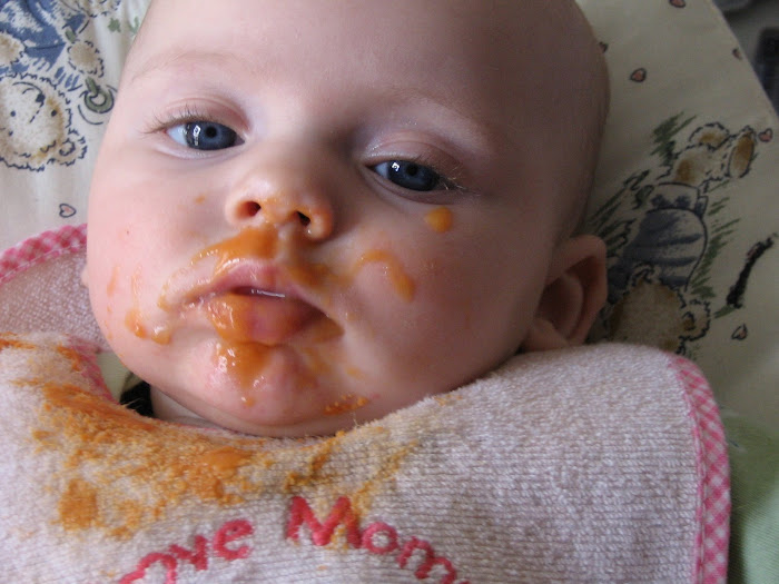 First time eatting baby food
