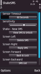 ScreenShoot Shake SMS for Nokia 5800
