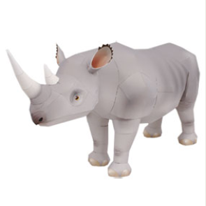 how to make a rhino horn with paper