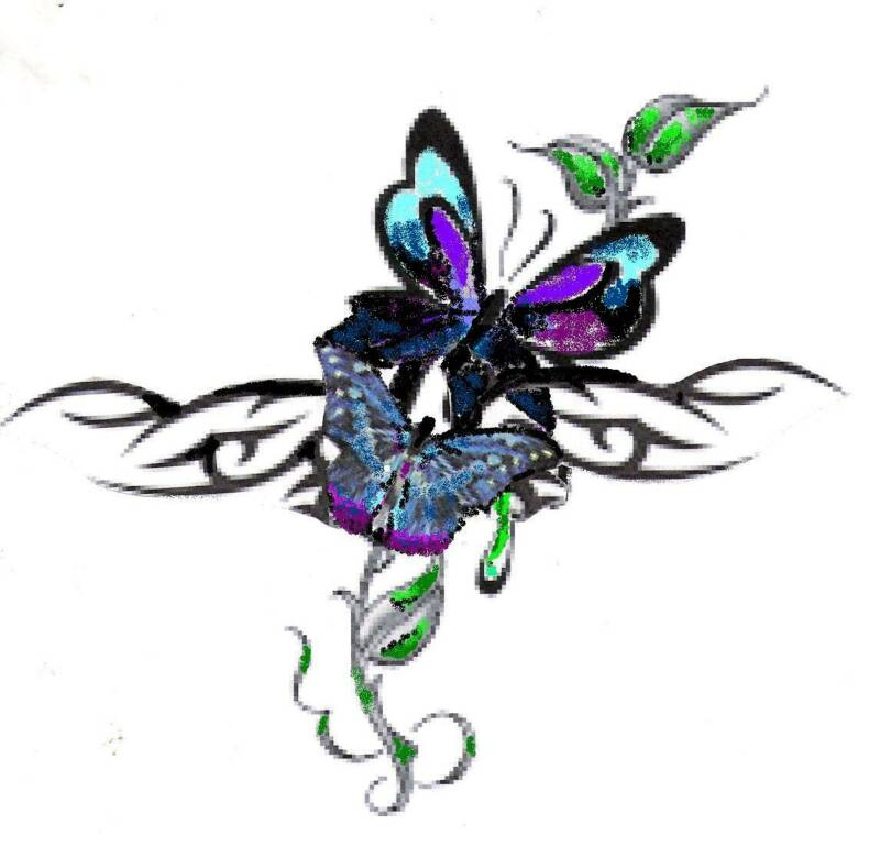Tattoo varity butterfly art butterfly tattoo design for Cool drawings of butterflies
