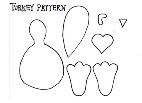 Gorgeous image for printable turkey pattern