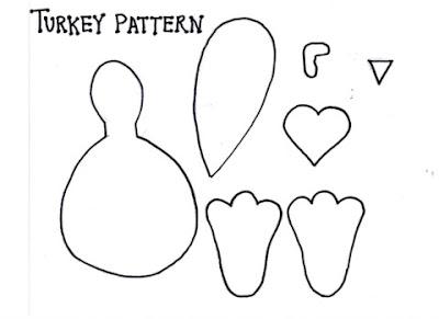 Printable Turkey Feet Pattern