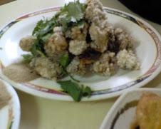 三元街西藏路口鹹粥老店之現炸鮮蚵
