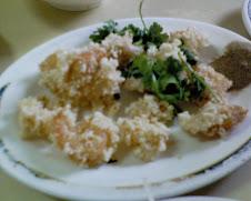 三元街西藏路口鹹粥老店之現炸鮮蝦仁