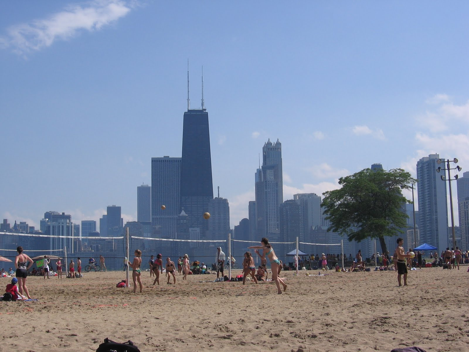 The Chicago Real Estate Local Rain Interrupted At North Avenue Beach - Chicago map north avenue beach
