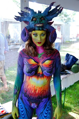 Best Art Body Painting of Back