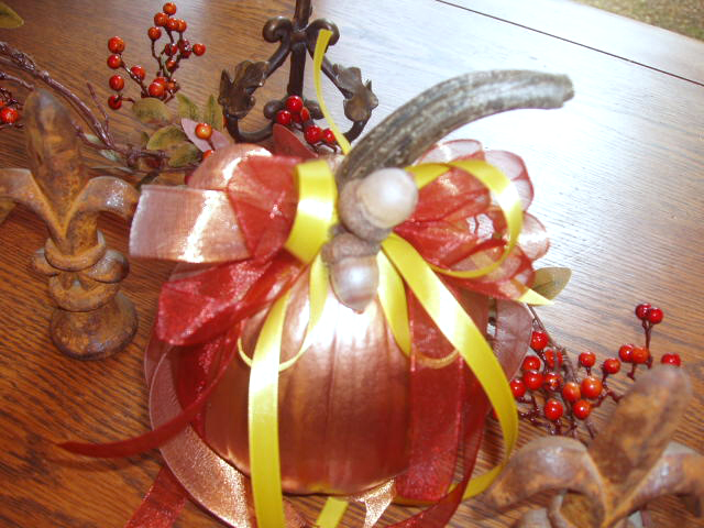 Add some fall leaves or some fall garland to give them a little extra punch