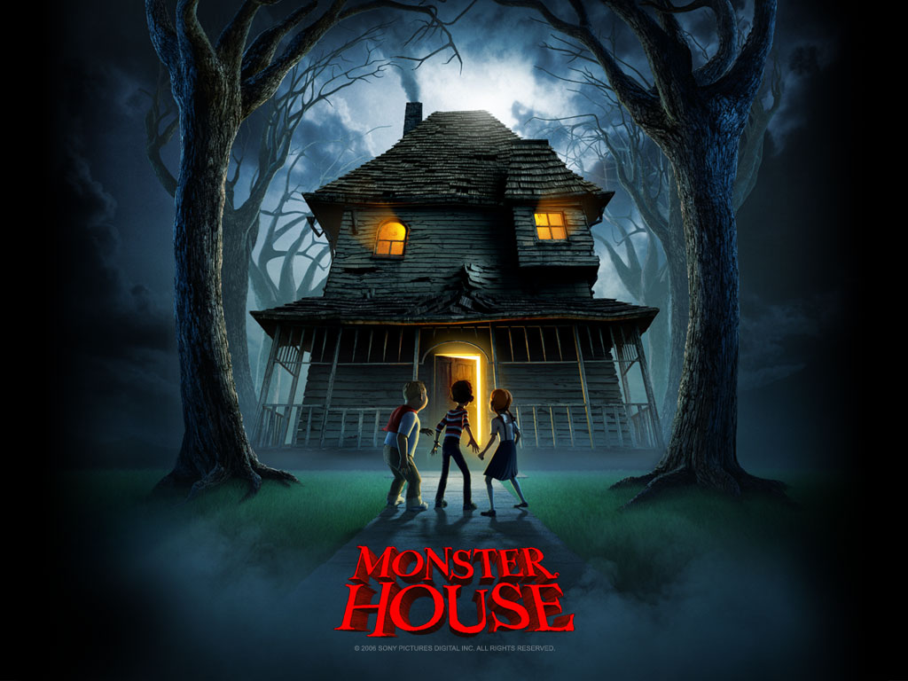 Get free wallpapers monster house for Wallpaper home animation