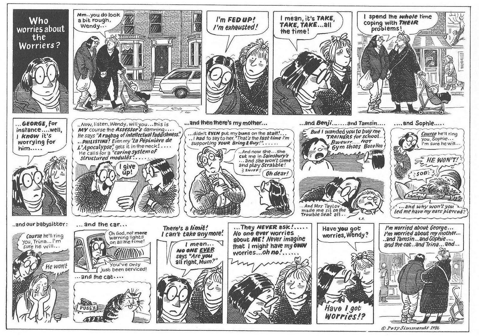 Posy Simmonds Sunday Comics Debt Posy Simmonds