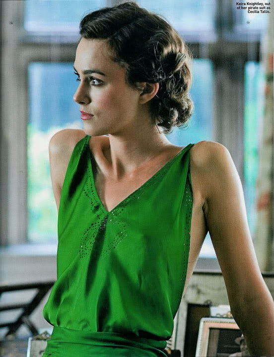 Keira Knightley In Atonement Green. iconic gown from atonement,
