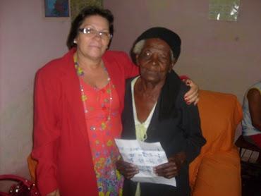 Dona Noberta-106 anos-aluna do TOPA Ipecaetá/BA