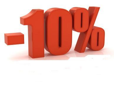10% LESS!!!