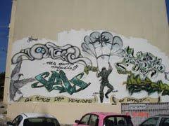 Grafitti em prédio do Bairro Social da Sobreda