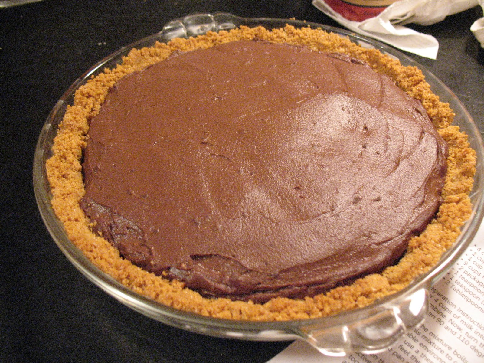 Sherry Starts Cooking: Chocolate Pudding Pie
