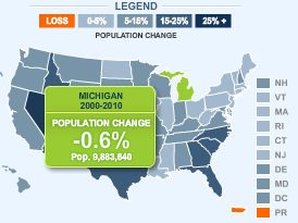 US Population Growth Interactive Map Census Data 2010 Nevada