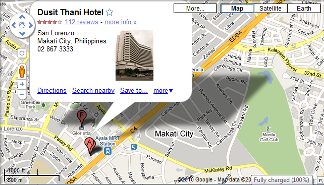 Now Here S The Dusit Thani Hotel As Shown In Google Maps And Satellite View Of Well