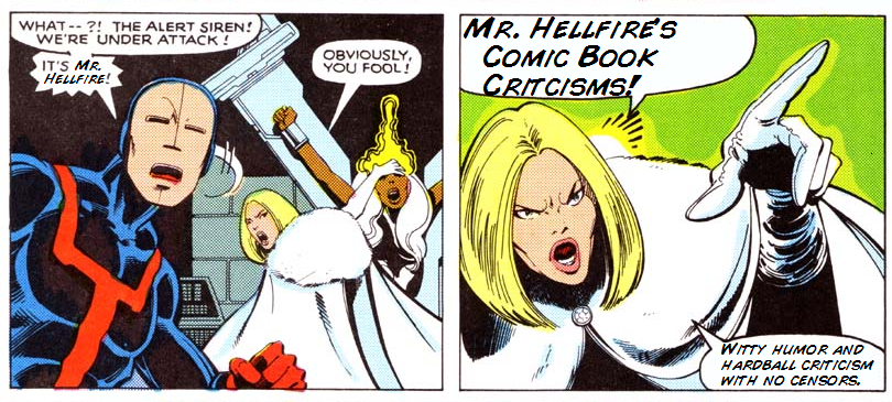 Mr. Hellfire's Comic Book Criticisms