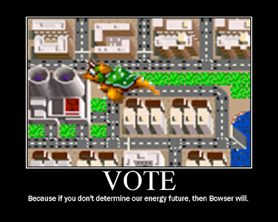 sim city, bowser, voting motivational poster, resigned gamer, snes, resigned gamer