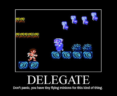 kid icarus motivational poster, grim reaper, delegate, resigned gamer