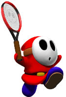 shy guy tennis, mario tennis, resigned gamer