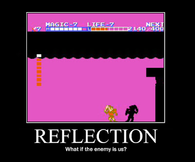zelda 2 dark link, motivational poster, resigned gamer
