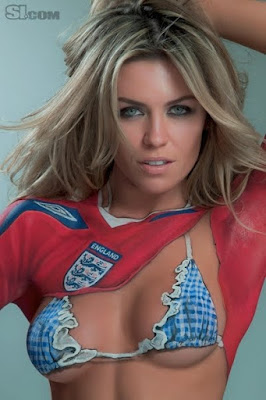 Abbey Clancy Body Painting