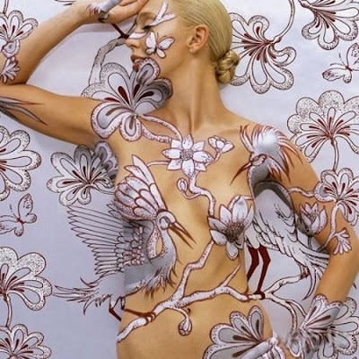Amazing Tattoo Body painting Wallpaper
