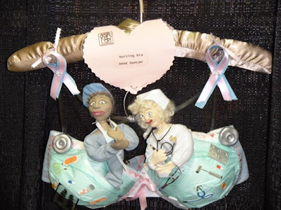 Breast Cancer Bra Decorating Ideas http://marystori.blogspot.com/2009_07_01_archive.html