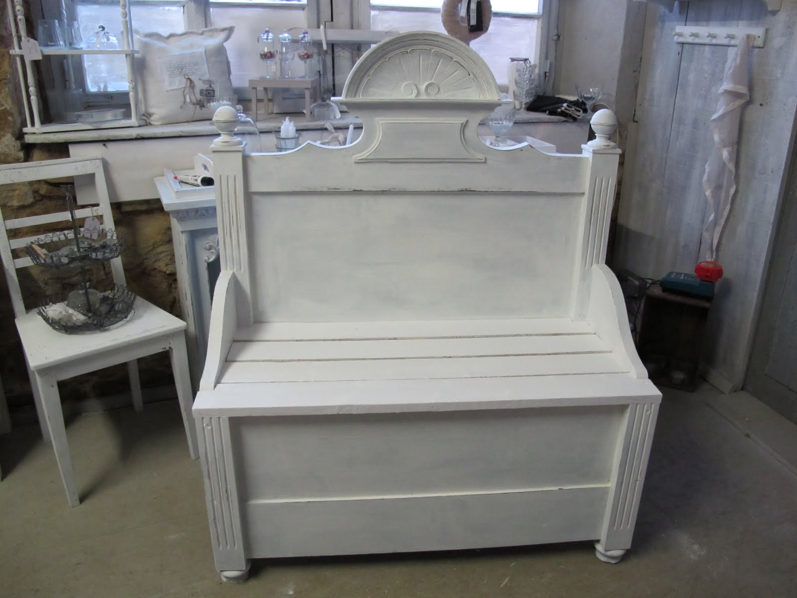 Bettgestell shabby