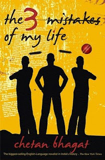 Book Cover Three mistakes of my life by Chetan Bhagat
