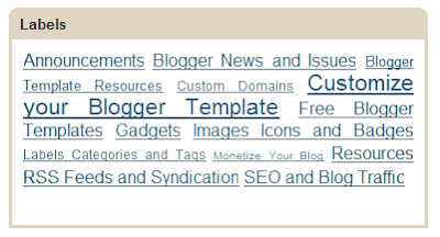 label cloud blog for blogger