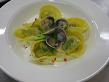 Tortelli di Vongole e Zucchine con Fonduta